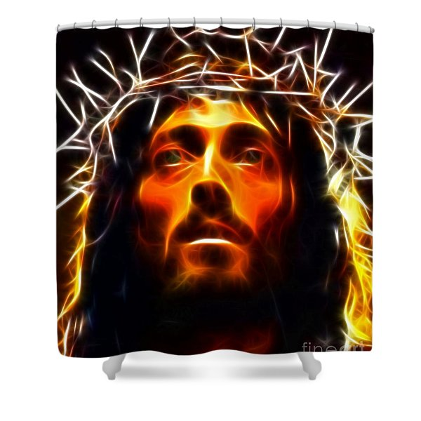 Jesus Christ The Savior Shower Curtain
