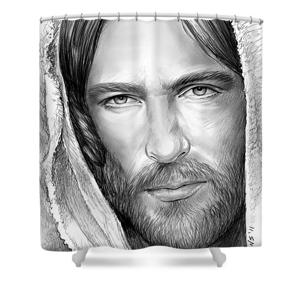 Jesus Face Shower Curtain