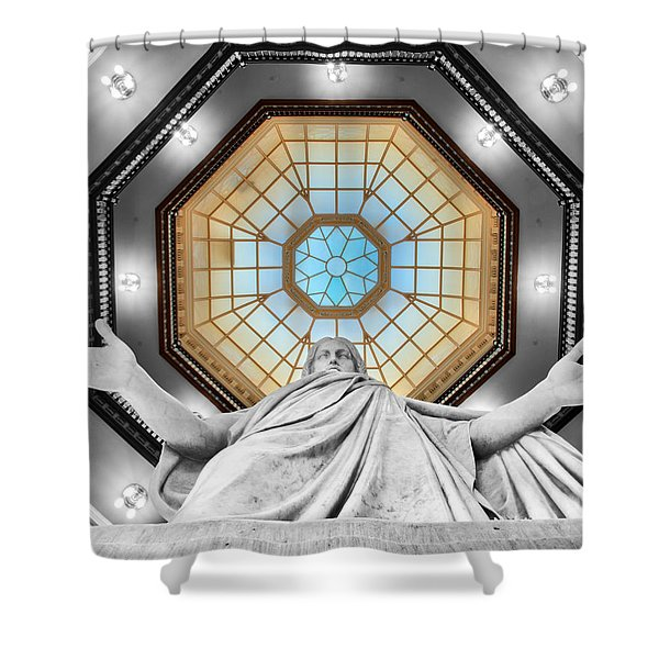 Jesus Halo Shower Curtain