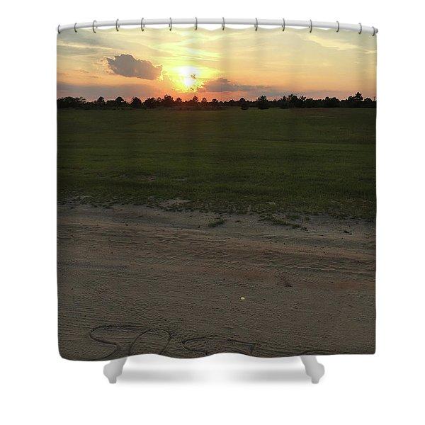 Jesus Healing Sunset Shower Curtain