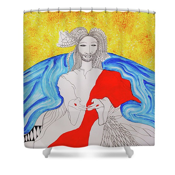 Jesus Messiah Second Coming Shower Curtain