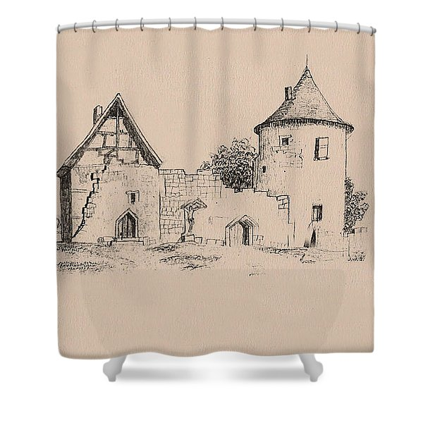 Jesus On Cross Liverpool Shower Curtain