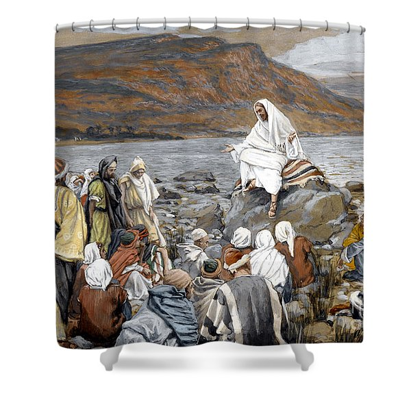 Jesus Preaching Shower Curtain
