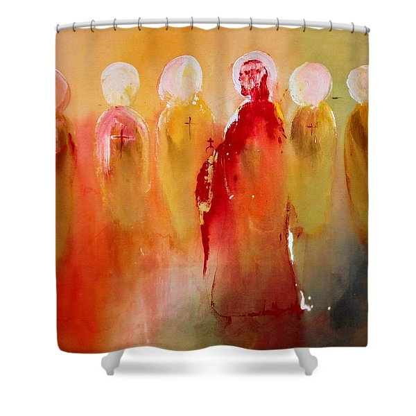 Jesus With His Apostles Shower Curtain