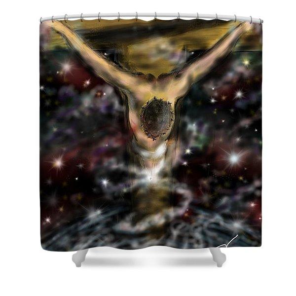 Jesus World Shower Curtain