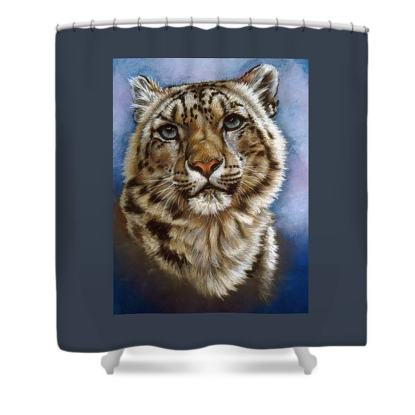 Shower Curtain featuring the pastel Jewel by Barbara Keith