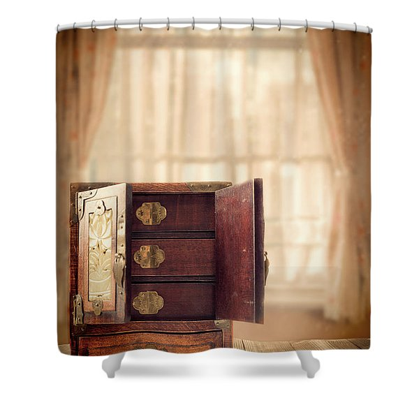 Jewel Cabinet Shower Curtain