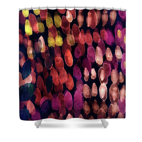 Jewel Drops- Abstract Art By Linda Woods Shower Curtain