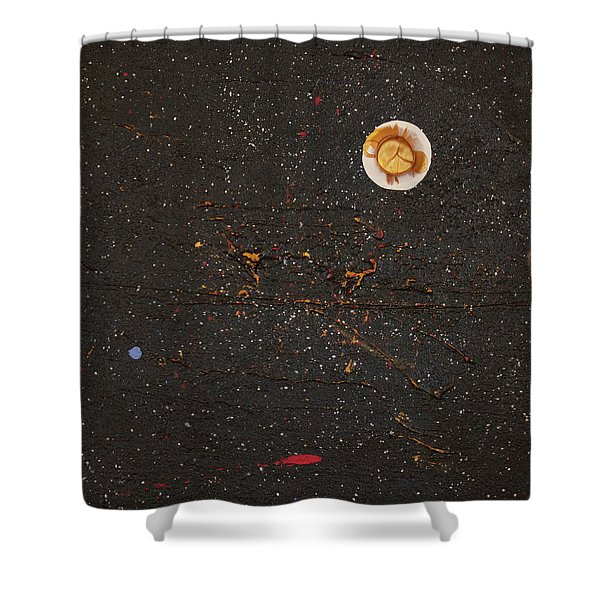Shower Curtain featuring the painting Jewel Of The Night by Michael Lucarelli