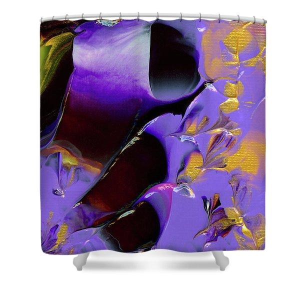 Jeweled Amethyst Shower Curtain