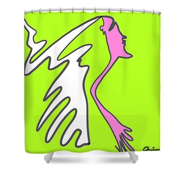 Jiggy Shower Curtain
