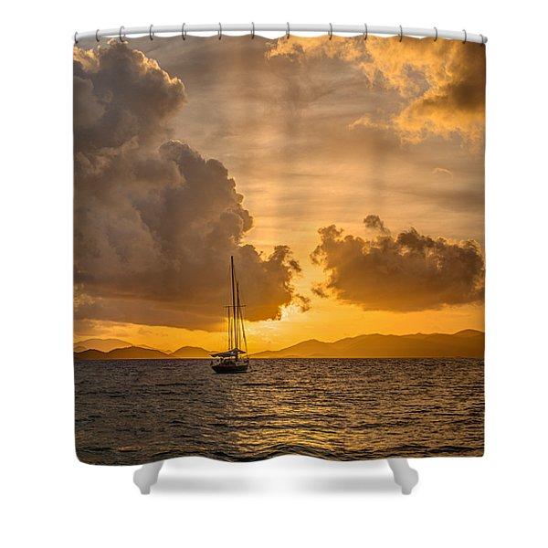 Jimmy Buffet Sunrise Shower Curtain
