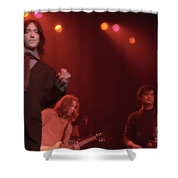 Jimmy Page And The Black Crowes Shower Curtain