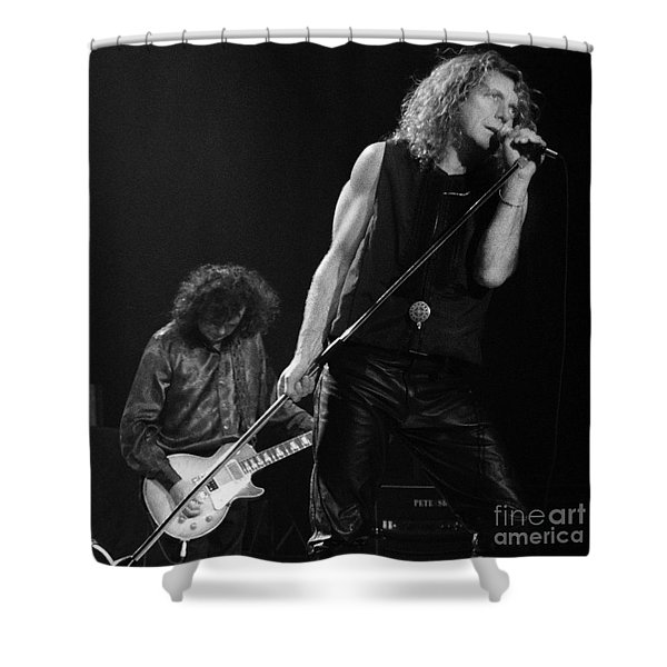 Jimmy Page N Robert Plant-0015 Shower Curtain