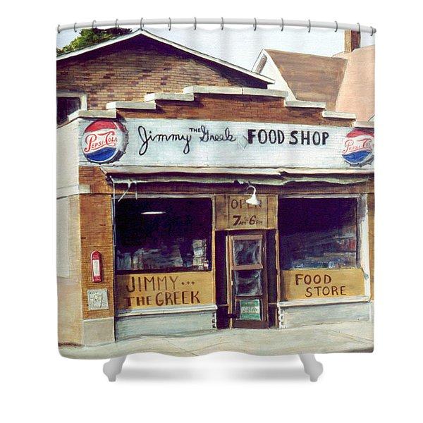 Jimmy The Greek Shower Curtain