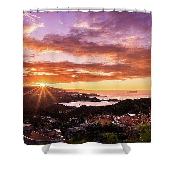 Jiufen Sunset Shower Curtain