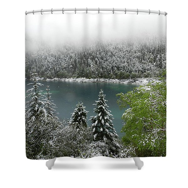Jiuzhaigou National Park, China Shower Curtain