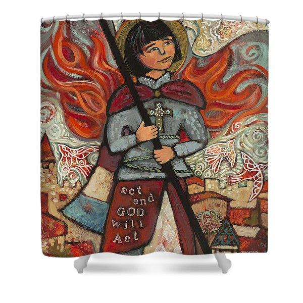 Joan Of Arc Shower Curtain