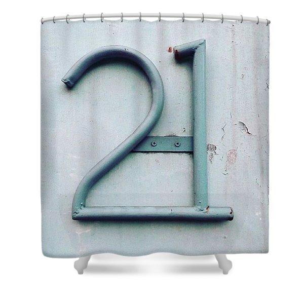 21 - Twenty One Shower Curtain