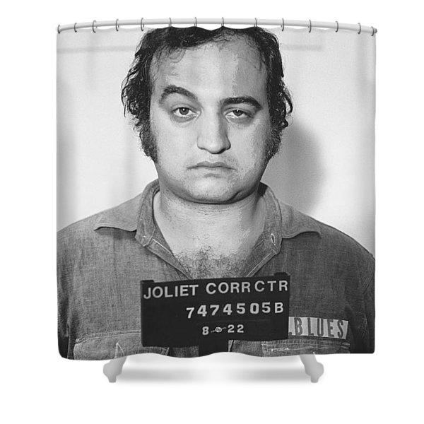 John Belushi Mug Shot For Film Vertical Shower Curtain