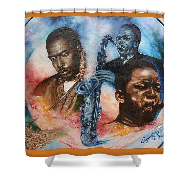 Blaa Kattproduksjoner     John Coltrane - Jazzed  Shower Curtain