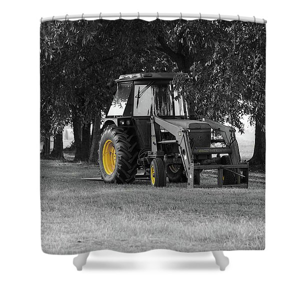 John Deere 620 In Selective Color Shower Curtain