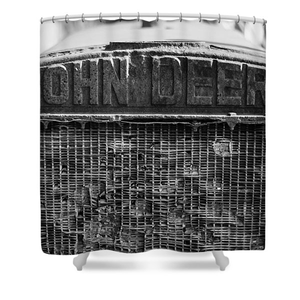 John Deere In Monochrome Shower Curtain