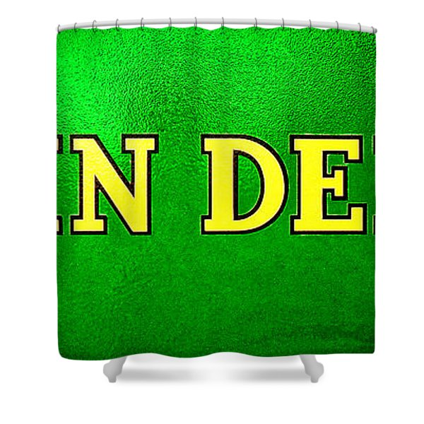 John Deere Nameplate Shower Curtain