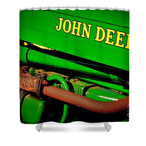John Deere Tractor Mystery Shower Curtain