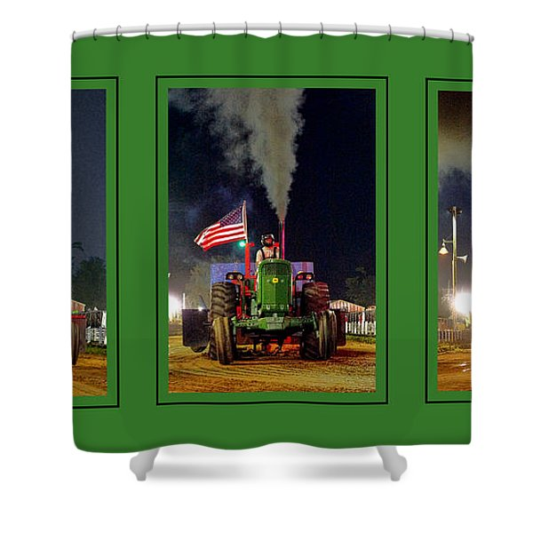 John Deere Tractor Pull Poster Shower Curtain