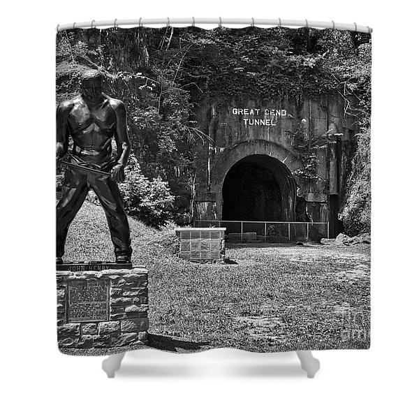 John Henry - Steel Driving Man Shower Curtain