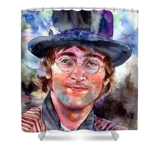 John Lennon Portrait Shower Curtain