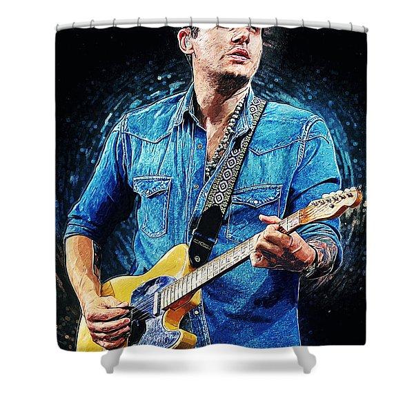 John Mayer Shower Curtain