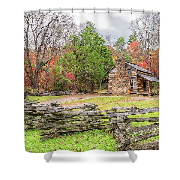 John Oliver Cabin Shower Curtain