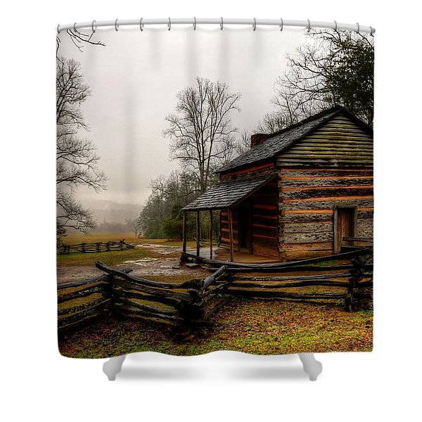 John Oliver's Cabin In Cades Cove Shower Curtain