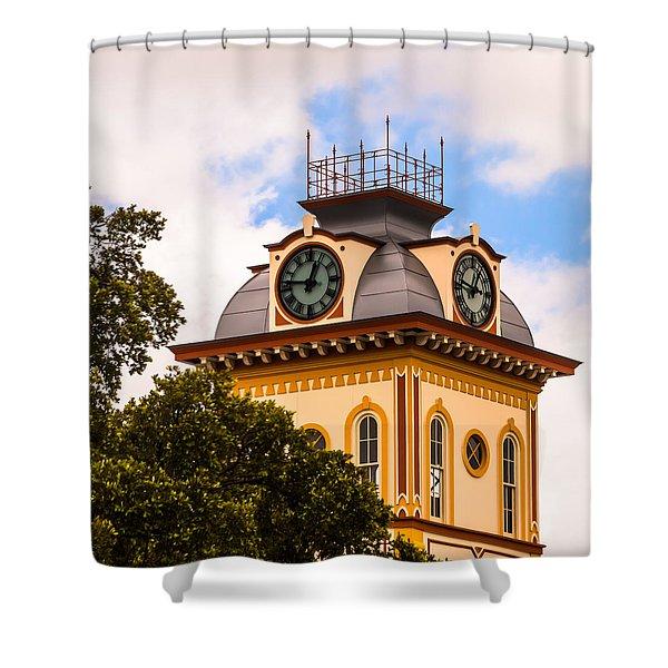 John W. Hargis Hall Clock Tower Shower Curtain