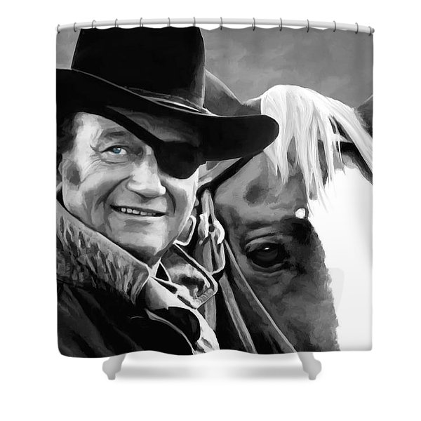 John Wayne @ True Grit #1 Shower Curtain