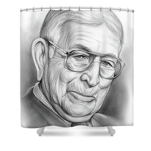 John Wooden Shower Curtain