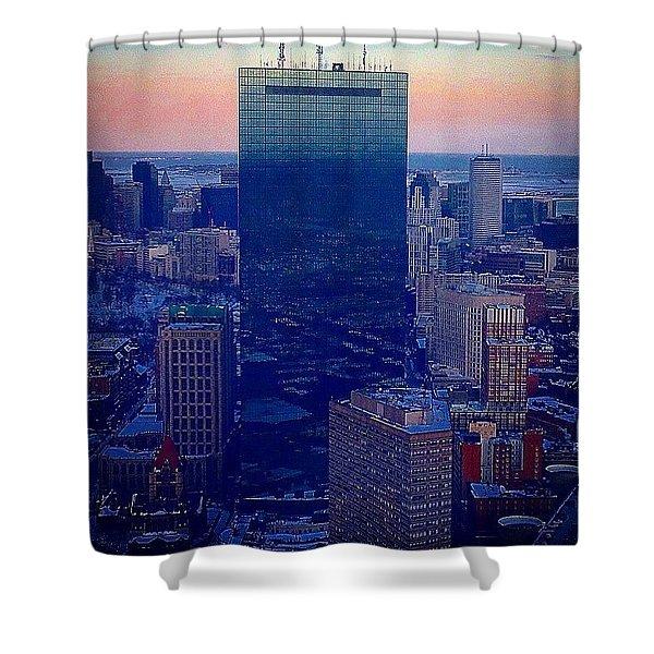 Sunset In Boston  Shower Curtain