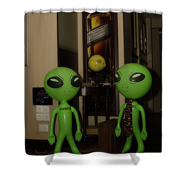 Johnny Walker Worshipers Shower Curtain