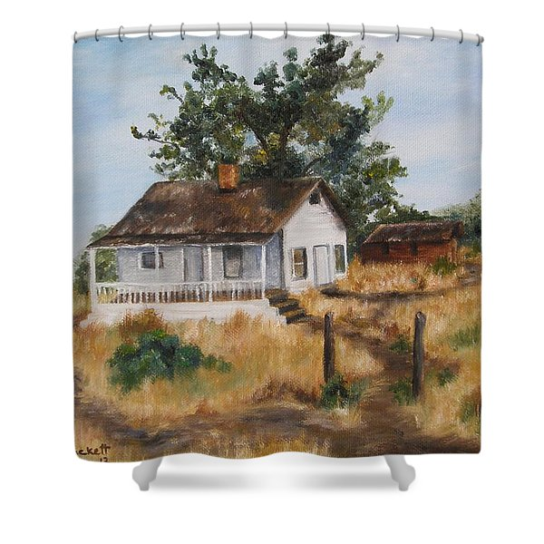Johnny's Home Shower Curtain