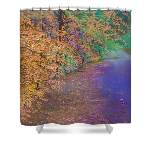 John's Pond In The Fall Shower Curtain