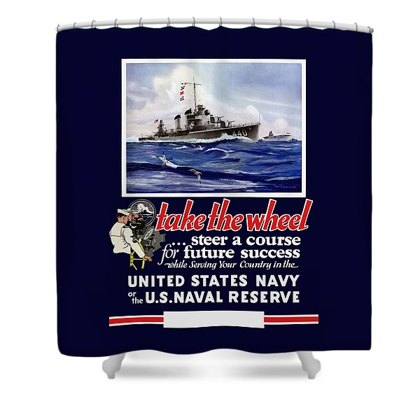 Join The Us Navy - Ww2 Shower Curtain