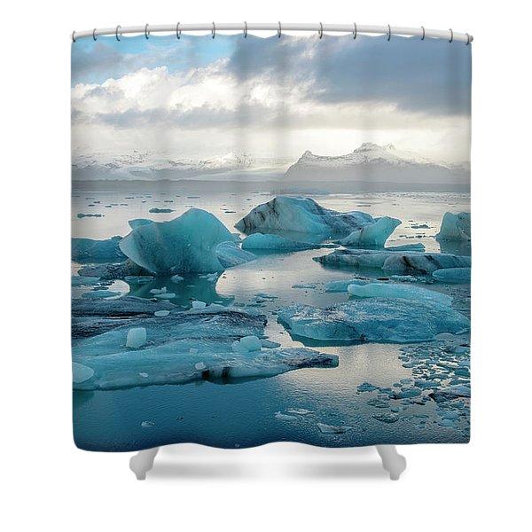 Jokulsarlon, The Glacier Lagoon, Iceland 6 Shower Curtain