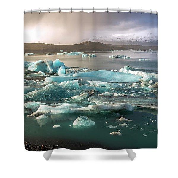 Jokulsarlon The Magnificent Glacier Lagoon, Iceland Shower Curtain