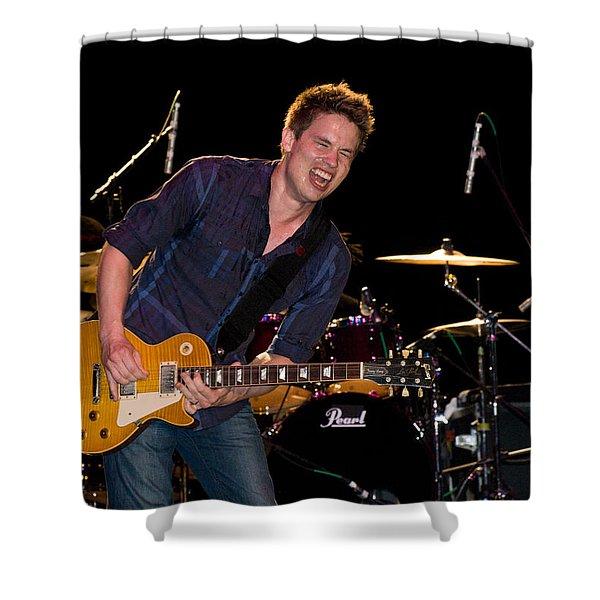 Jonny Lang Rocks His 1958 Les Paul Gibson Guitar Shower Curtain