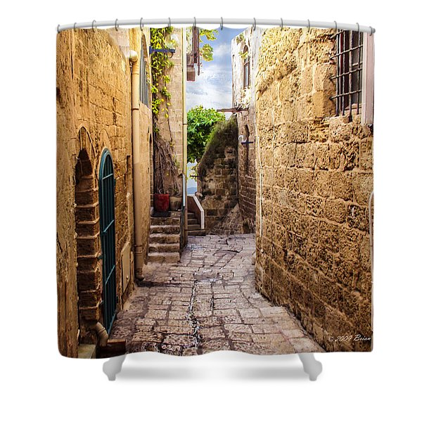 Joppa Israel Passageway Shower Curtain