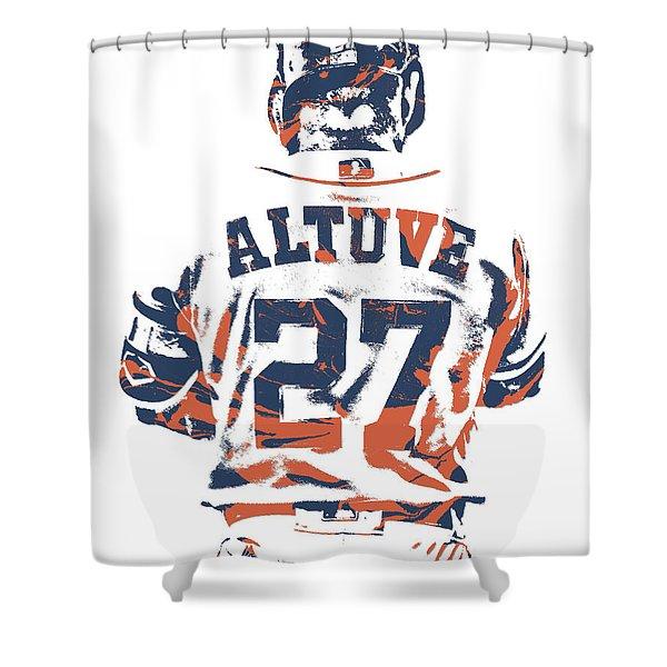 Jose Altuve Houston Astros Pixel Art 10 Shower Curtain