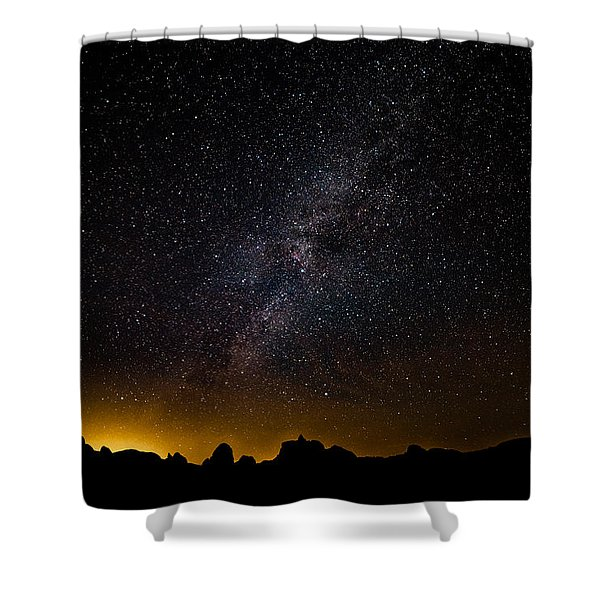 Joshua Tree's Fiery Sky Shower Curtain