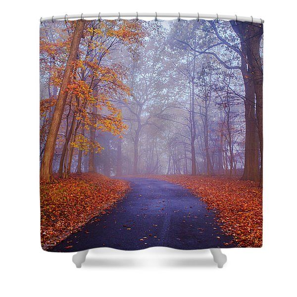 Journey Continues Shower Curtain